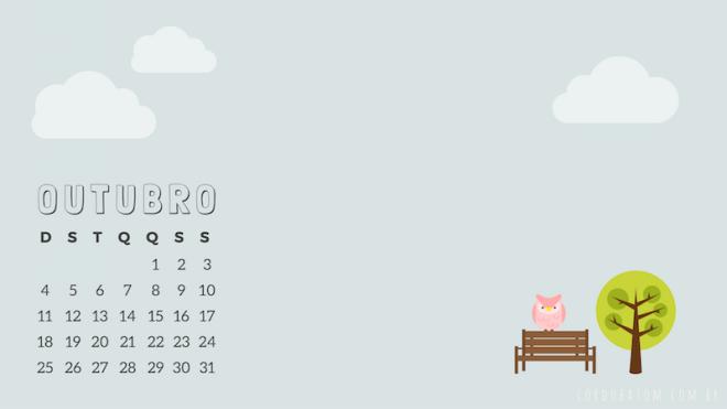 calendário outubro